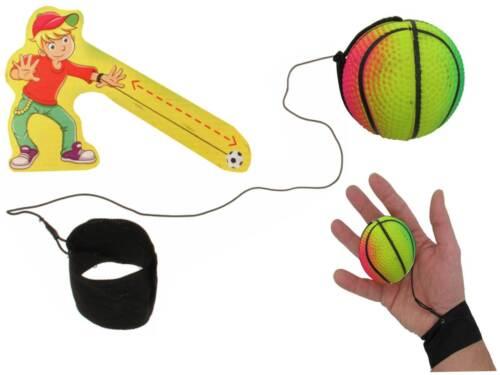 Returnball bunt 4,5cm Flummi an Gummiband Return Ball Band Schnur Mitgebsel Neu