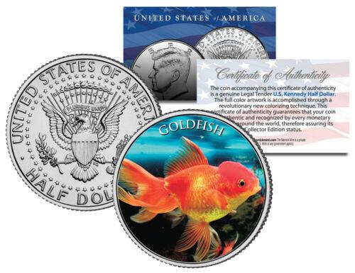 JFK Kennedy Half Dollar U.S GOLDFISH Fish Series Colorized Coin