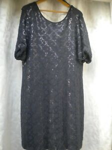 Details about LADIES NEAR NEW MONSOON NAVY DRESS SIZE UK18 EUR 46 US 14