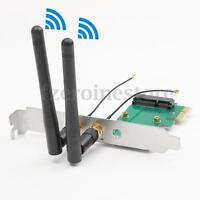 300Mbps DESKTOP PC WIRELESS WIFI PCI-E NETWORK ADAPTER CARD 802.11 N +2 ANTENNAS