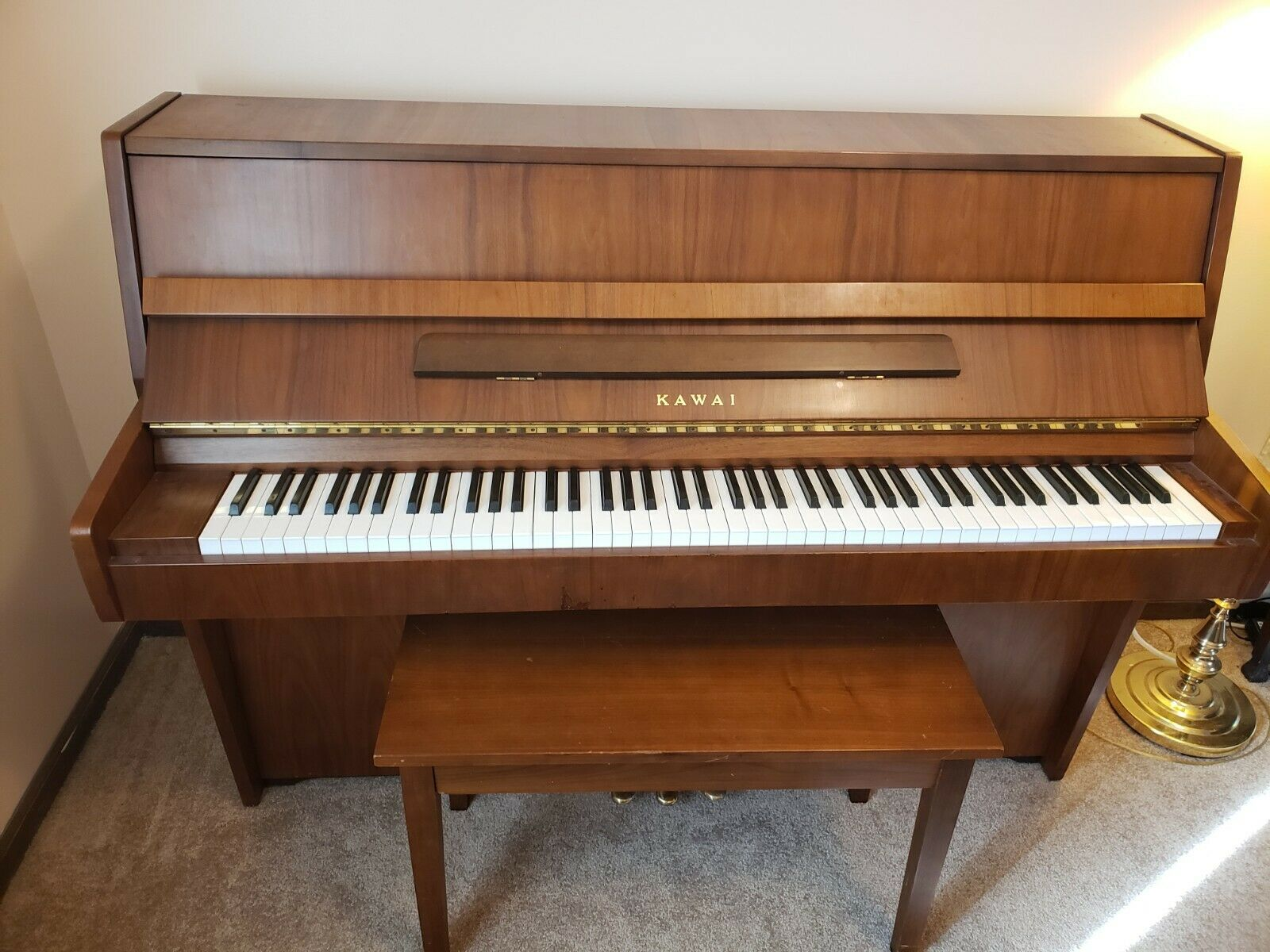 Kawai Upright Console Piano CE-7 Model With Bench