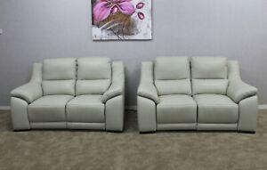 Polo-Divani-Degano-Off-White-Leather-Electric-Power-Reclining-x2-2-Seater-Sofas