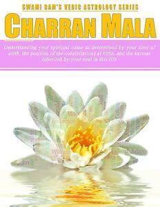 Details about Charran Mala (Name Sound) Handbook VEDIC ASTROLOGY SWAMI RAM  CHARRAN
