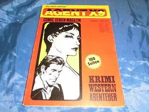 03 : COMICs 1976 , AGENT X 9 , COMIC # 1 , ILLU PRESS ,Krimi /Western /Abenteuer