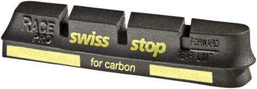 SwissStop RacePro Set of 4 Campagnolo Rim Brake Inserts Black Prince Compound