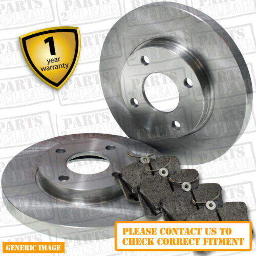 Brake Discs 260mm Solid For Honda Civic 1.8i-VTEC 1.8 2.2 CTDI Rear Brake Pads
