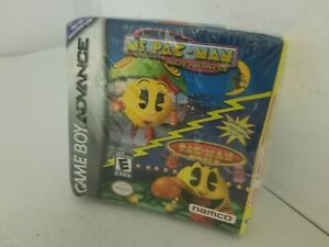 NEW-Sealed-Mrs-Ms-Pac-Man-Maze-Madness-amp-PacMan-World-GBA-W-CRUSHED-BOX-A33