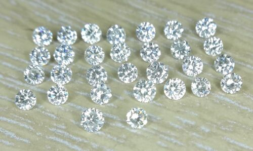 1.2mm 0.24cts 30pc I Clarity J Color Natural Loose Brilliant Cut Diamond Round