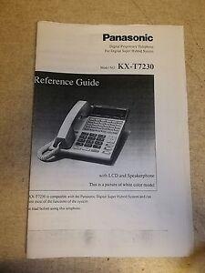 Panasonic Model KX-T7230 Manual *FREE SHIPPING*
