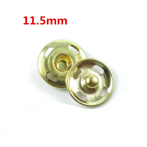 20//50sets 10-21mm Metal Buttons Snap Fastener Press Stud Popper Sew On Fabric