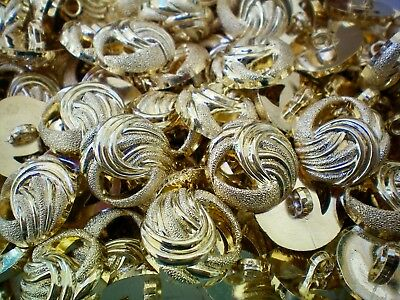 W640 W641 25mm 21mm Gold Twisted Rope Knot Shank Dress Jacket Coat Buttons