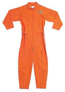 e8c11875b29 ORANGE Military Flight Suit Air Force Style Flight Coveralls Choose ...