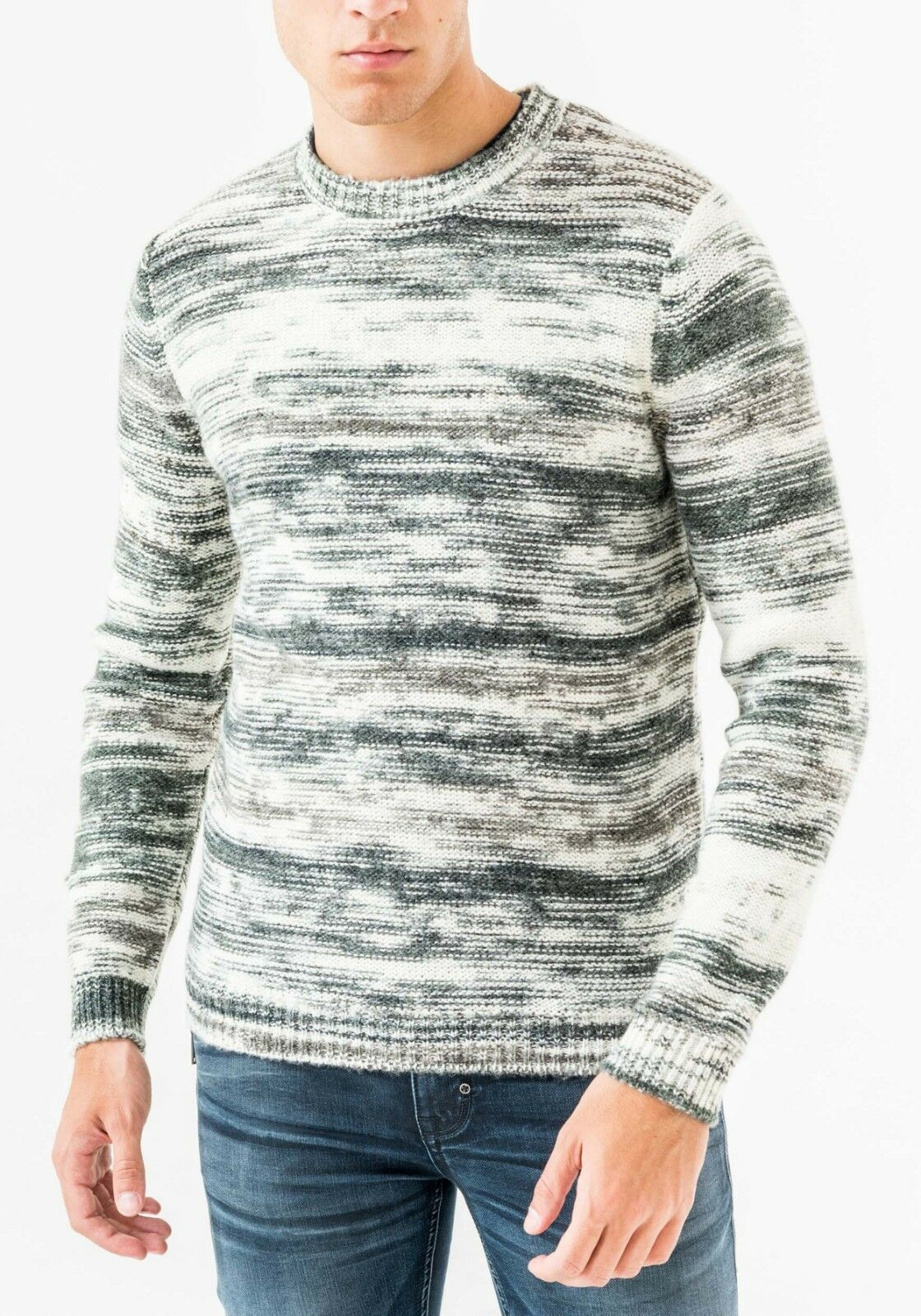 Maglia antony girocollo morato effetto melange  girocollo antony in mista lana mohair.2019 0192ea