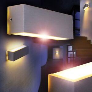 LED-Lampara-de-pared-diseno-moderno-color-aluminio-pantalla-blanca-salon-pasillo