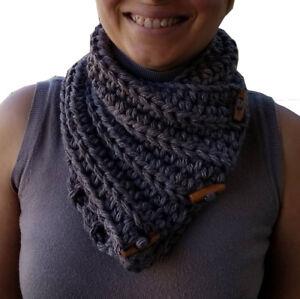 prezzo competitivo d4477 048fa Dettagli su scaldacollo elegante caldo lana sciarpa artigianale donna  autunno inverno a mano