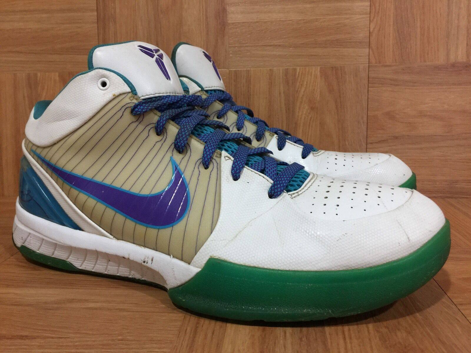 VTG Nike Zoom Kobe 4 IV Draft Day Hornets Orion bluee Purple Sz 12 344335-151