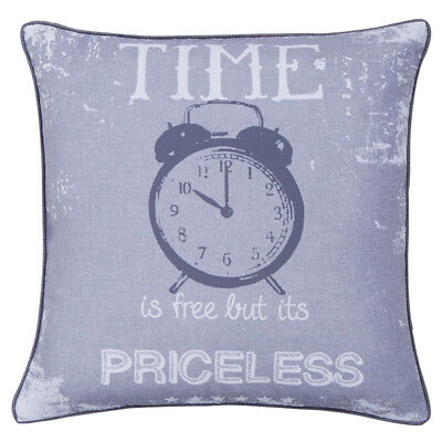 Catherine Lansfield Home Time Is Priceless Cushion Cover, Multi, 43 x 43 Cm