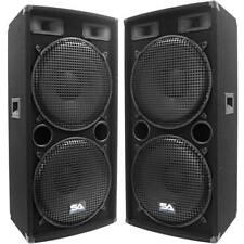 Seismic Audio - Pair of Dual 15 PA DJ Speakers 1000 Watts Pro