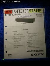 Sony Service Manual TA FE310R /FE510R Amplifier (#4136)