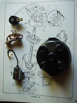 TRIUMPH Spitfire Mk1-Mk3 Cap Points Rotor Arm Condenser Coil Leads IGNITION KIT