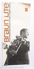 Braun Lite Flash Product Advertisement Booklet - English - USED B10
