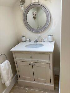 Handmade Bathroom Vanity Unit Painted, Handmade Bathroom Vanity
