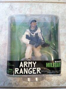 Série militaire de Mcfarlane 7 Ranger de l'armée Opérations dans l'Arctique Figure Misp!