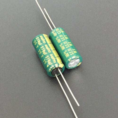 10pcs 270UF 35V270uf SANYO WX  Low  Impedance High Ripple Capacitor 8X20mm