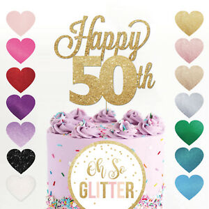 Image Is Loading Happy 50th Birthday Cake Topper Fifty Daughter Son