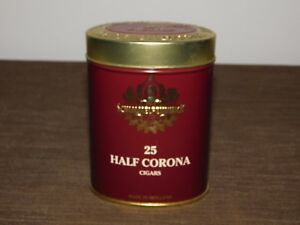 "VINTAGE 5"" HIGH SCHIMMELPENNINCK 25 HALF CORONA CIGARS TIN CAN  *EMPTY*"