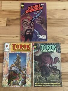 FLASH-GORDON-34-Turok-Son-Of-Stone-127-amp-Turok-Dinosaur-Hunter-1