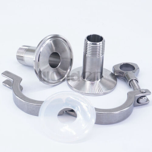 """A Kit 1//2/"""" MNPT x 1.5/"""" Tri Clamp SUS 304 Stainless Sanitary Fitting Home Brew"""