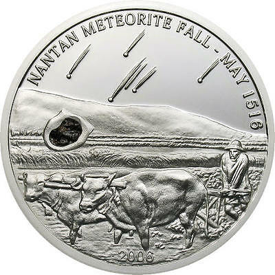 : Sold Out Self-Conscious ¤rare¤ Palau 5 Dollars 2006 Silver Proof The Nantan Meteorite