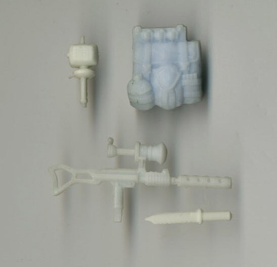G I Joe ARAH Low Light Unpainted Hardcopy Weapon Prototypes 1991
