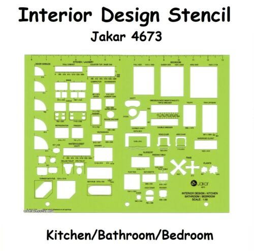 Interior Design Stencil Architecture Technical Artist Design Drawing Template To