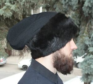 the time of Ivan the Terrible  archer hat  sheepskin  satin Hat in the Slavic style
