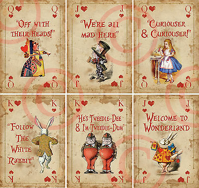 Alice in Wonderland Arrow Quote Signs Prop Mad Hatters Tea Party Decoration LOTS