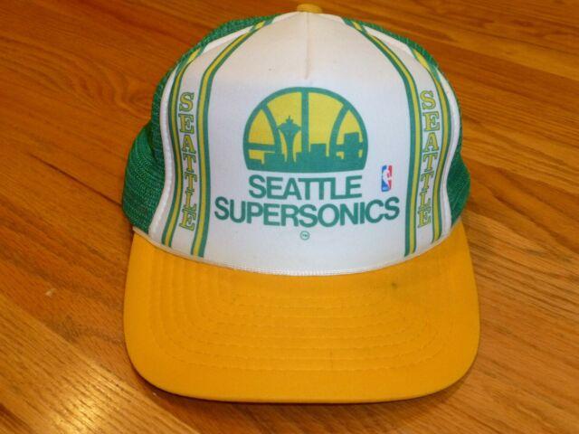 Vintage Seattle Sonics Supersonics NBA Snapback Cap Hat
