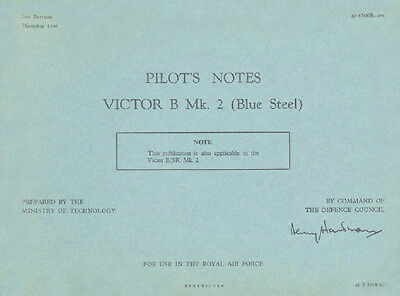 PILOT/'S NOTES ADDED VALUE INFO PACK// DOWNLOAD HANDLEY PAGE VICTOR B Mk.2