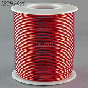 Magnet-Wire-18-Gauge-AWG-Enameled-Copper-200-Feet-Coil-Winding-and-Crafts-Red