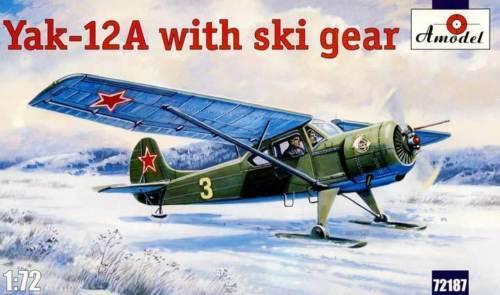 Amodel - Yak-12A 12a con Esquí Polonia Rusia - 1:72 Equipo de Construcción Nuevo