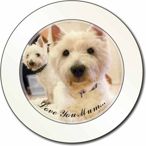AD-W1lymT Westie Dogs /'Love You Mum/' Car//Van Permit Holder//Tax Disc Gift