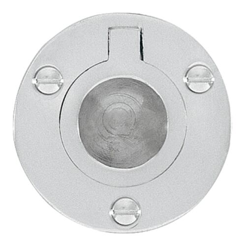 Polished Brass Or Chrome Plated Delf CIRCULAR DRAWER FLUSH PULL RING 50mm