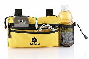 AdirMed-Yellow-Wheelchair-Walker-Pouch-Bag-Many-pockets