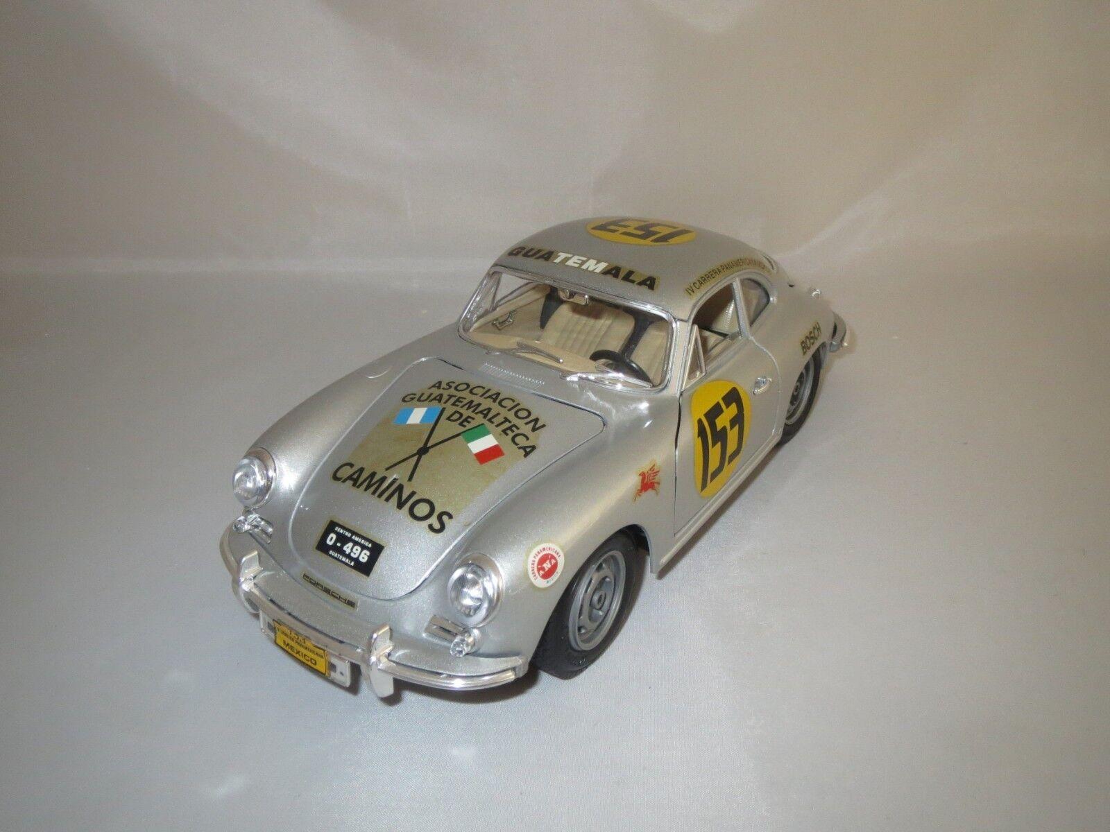 Conversion sur base Bburago l.m.m. Porsche 356b  1961   153 (argent) 1 18 Sans VP.