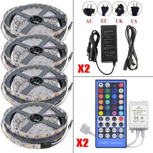 1-20M RGB 5050 SMD Waterproof LED Light Strip Flexible WIFI IR Remote 12V Power