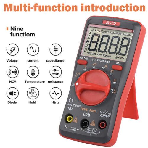 USB Multimeter Handheld Haushalts Elektriker Instrument Spannungs Strommesser DE