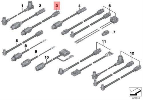 Genuine BMW F25 F26 SAC Head-Up Display HSD Lead Repair Kit OEM 61119258857