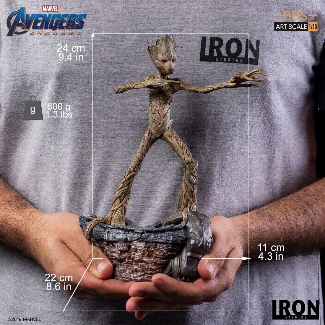 Iron Studios Groot bds Arte Escala 1 10 Vengadores  Tacho Figura Muñeca Modelo