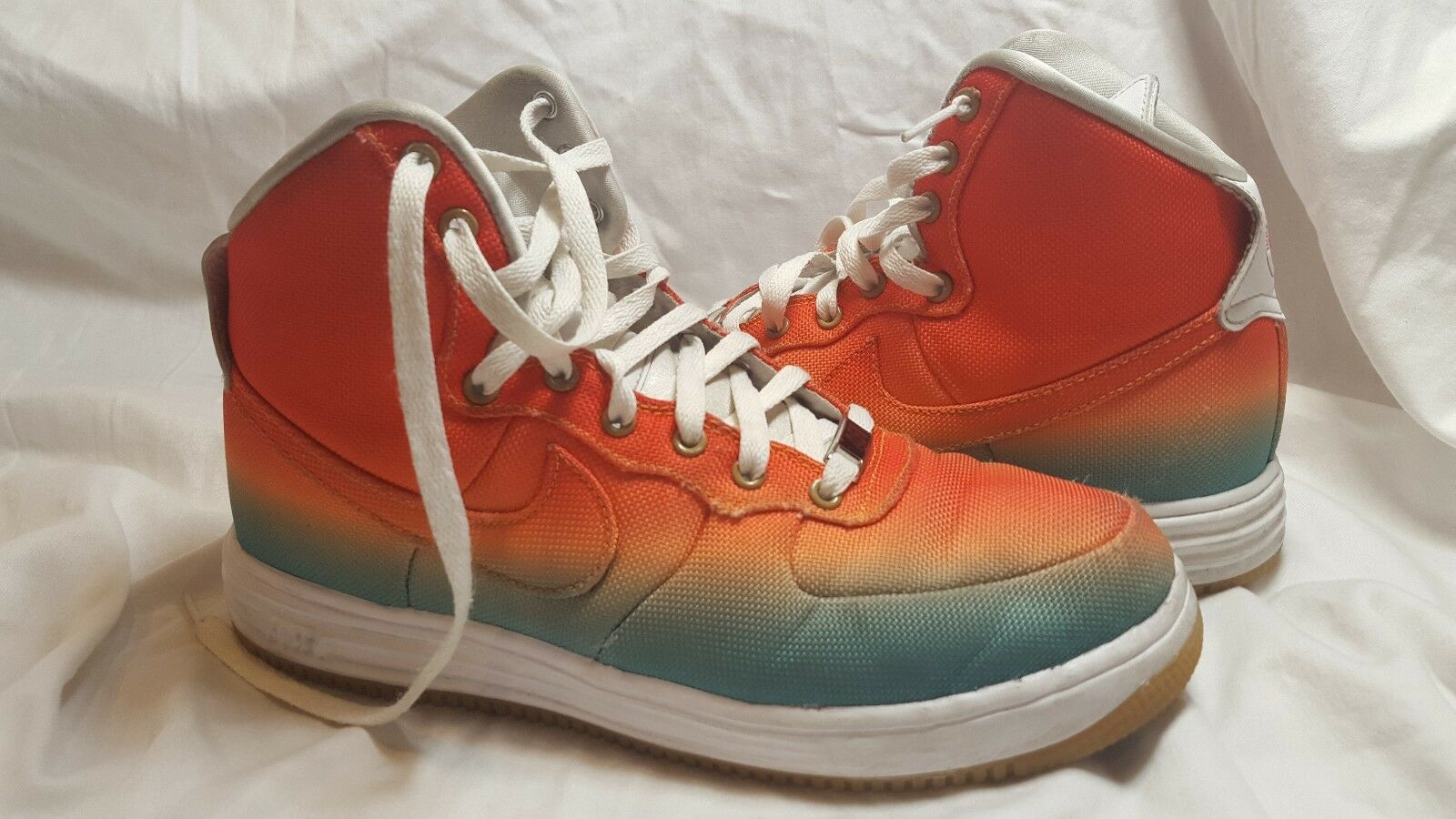 Nike Air Force Lunar Force 1 Basketball Duckboot Rare Tropical Gradient Size 8